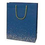Z&K(ゼットアンドケイ) キャリーバッグ 22−629 ネイビー 1枚入り│ラッピング用品 手提げ袋