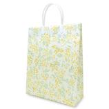 Z&K(ゼットアンドケイ) ビニールキャリーバッグ 24-235 ミモザイエロー│ラッピング用品 手提げ袋
