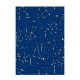 Z&K ラッピングペーパー ロール 31−176 スターサインネイビーブルー