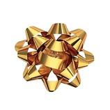 Z&K STAR BOW 41-005 メタリックゴールド│ラッピング用品 リボン