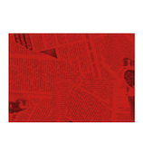 Z&K(ゼットアンドケイ) ミニニュースペーパー 47−318 レッド│ラッピング用品 包装紙・ラッピングペーパー