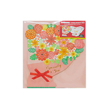 Z&K(ゼットアンドケイ) ダイカットシキシ ブーケミニ 62-144 ピンク│のし・色紙 色紙