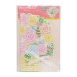 Z&K(ゼットアンドケイ) フラワーバスケット色紙 62‐186 ピンク│のし・色紙 色紙
