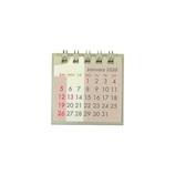 【2020年版・卓上】 Z&K カレンダー ミニミニ 68−868 グレー