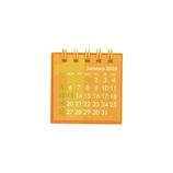 【2020年版・卓上】 Z&K カレンダー ミニミニ 68−869 オレンジ
