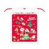 【クリスマス】 Z&K ビニールバッグ 76−171 レッド