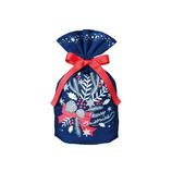 【クリスマス】Z&K(ゼットアンドケイ) ギフトバッグ 76−352 ブルー