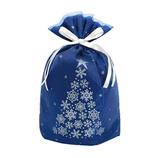 【クリスマス】 ゼットアンドケイ(Z&K) スノーツリーギフトバッグ M ネイビー│ラッピング用品 ラッピング袋