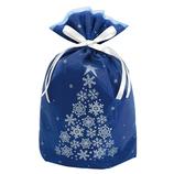【クリスマス】 ゼットアンドケイ(Z&K) スノーツリーギフトバッグ L ネイビー│ラッピング用品 ラッピング袋