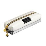 カミオジャパン 2ルームペンケース 86789 ホワイト×シルバー(メタリック)