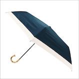 カミオジャパン ピンクトリック 雨晴兼用 完全遮光 3段折りたたみ傘 グログラン 87522 ネイビー│レインウェア・雨具 日傘