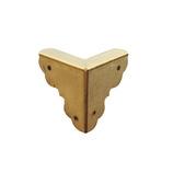 コニ・ビオラ 真鍮飾金具 飾三つ折 K-68 2個入