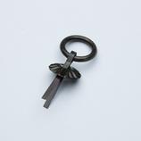 コニビオラ 菊カン (黒)S Y‐77 2ケ入│箪笥・キャビネット用品 飾り金具・装飾金具