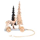 【クリスマス】 木製クリスマストローリー WG−7751