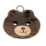 焼杉 鍋敷 熊