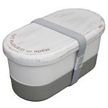 メイドイングランマカフェ 2段ランチボックス ホワイト