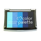 ツキネコ カラーパレット5色コンビ CP507 ブルーS