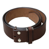 DONOK 牛革ベルト帯 40mm幅 ブラウン│レザークラフト用品 革ベルト・ベルト材料