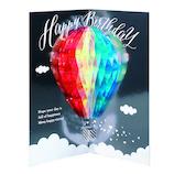 アートプリントジャパン ホログラムハニカムバースデー 1000114574 気球│カード・ポストカード バースデー・誕生日カード