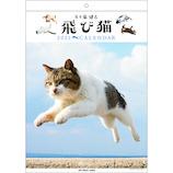 【2021年版・壁掛】 アートプリントジャパン 飛び猫カレンダー