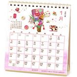 【2021年版・卓上】 アートプリントジャパン 和風卓上カレンダー 花もよう