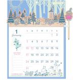 【2021年版・壁掛】 アートプリントジャパン ウッドヘッダーカレンダー ムーミン