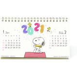 【2021年版・卓上】 アートプリントジャパン PEANUTS(スヌーピー) ハンドメイドカレンダー