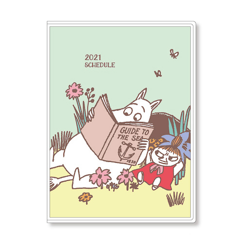【2020年10月始まり】 アートプリントジャパン マンスリー ムーミン B6 1000116129 ムーミン&リトルミイ 月曜始まり