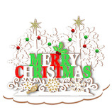 【クリスマス】アートプリントジャパン クリスマスウッドスタンドカード 117886 ホワイトクリスマス