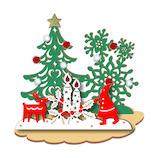 【クリスマス】アートプリントジャパン クリスマスウッドスタンドカード 117887 キャンドルナイト