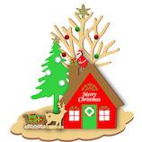 【クリスマス】アートプリントジャパン クリスマスウッドスタンドカード 117889 プレゼント