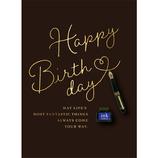 アートプリントジャパン ウッドパーツバースデーカード 万年筆│カード・ポストカード バースデー・誕生日カード
