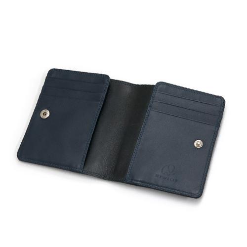 マイウォリット(Mywalit) VBスリム二つ折りウォレット MY1174138 ブラック/ミッドナイトブルー│財布・名刺入れ 二つ折り財布