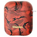 KingXbar AirPodsケース カモフラ KXB-RD004 レッド