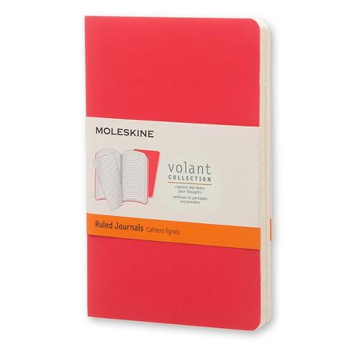 モレスキン ヴォランジャーナル 横罫 ポケットサイズ ゼラニウムレッド/スカーレットレッド 2冊セット
