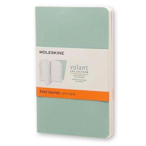 モレスキン ヴォランジャーナル 横罫 ポケットサイズ セージグリーン/シーウィードグリーン 2冊セット