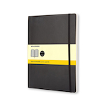 モレスキン クラシックノートブック ソフトカバー 方眼 XL 404889 ブラック│ノート・メモ 大学ノート・綴じノート