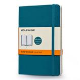 モレスキン カラーノートブック ソフトカバー 横罫 ポケットサイズ アンダーウォーターブルー 404926