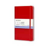 モレスキン アート スケッチブック ラージサイズ ARTQP063R レッド│ノート・メモ 大学ノート・綴じノート
