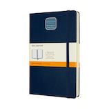 モレスキン クラシックノートブック エクスパンデッド ハードカバー 横罫 ラージサイズ ブルー