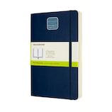 モレスキン クラシックノートブック エクスパンデッド ソフトカバー 無地 ラージサイズ ブルー