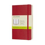 モレスキン クラシックノートブック ソフトカバー 無地 ポケットサイズ レッド