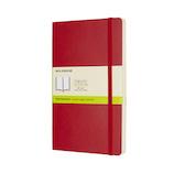モレスキン クラシックノートブック ソフトカバー 無地 ラージサイズ レッド