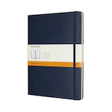 モレスキン クラシックノートブック ハードカバー 横罫 XL ブルー