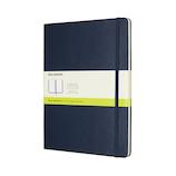 モレスキン クラシックノートブック ハードカバー 無地 XL ブルー