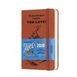 【2018年1月始まり】モレスキン 限定版 デイリー 不思議の国のアリス TOO LATE! ハードカバー ポケットサイズ