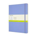 モレスキン カラー ノートブック ハードカバー 無地 XLサイズ QP092B42 ハイドレイジブルー