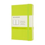 モレスキン カラー ノートブック ハードカバー 無地 ポケットサイズ QP012C2 レモングリーン