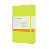 モレスキン カラー ノートブック ソフトカバー 横罫 ポケットサイズ QP611C2 レモングリーン