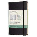 【2022年1月始まり】 モレスキン(MOLESKINE) ブラック ハード ポケット ウィークリー バーチカル DHB12WV2Y22 ブラック 月曜始まり│手帳・ダイアリー ダイアリー